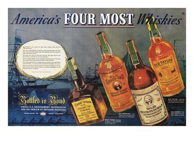 American Whiskey Ad, 1938--Framed Giclee Print