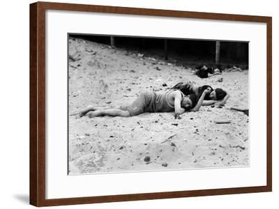 Coney Island: Sleeping--Framed Giclee Print