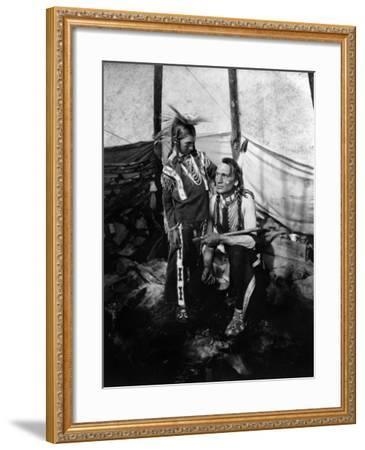 Blackfoot Man and Boy, c1914--Framed Giclee Print
