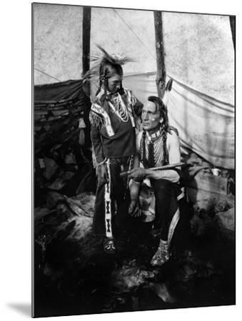 Blackfoot Man and Boy, c1914--Mounted Giclee Print