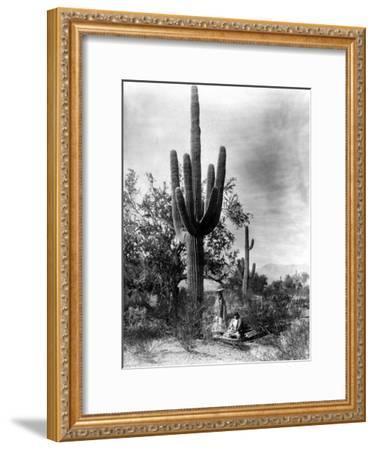 Saguaro Fruit Gatherers-Edward S^ Curtis-Framed Giclee Print