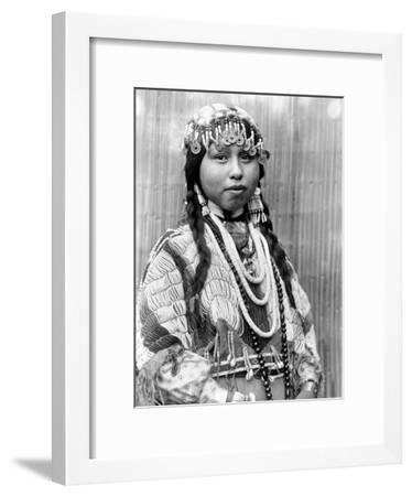 Wishram Bride, c1910-Edward S^ Curtis-Framed Giclee Print