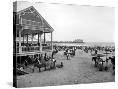 Atlantic City: Beach, c1900--Stretched Canvas Print