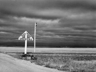 North Dakota Road, 1940-John Vachon-Stretched Canvas Print