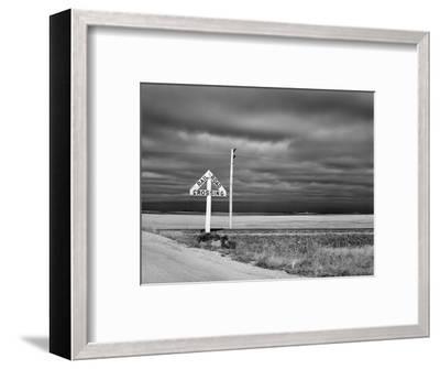 North Dakota Road, 1940-John Vachon-Framed Premium Giclee Print