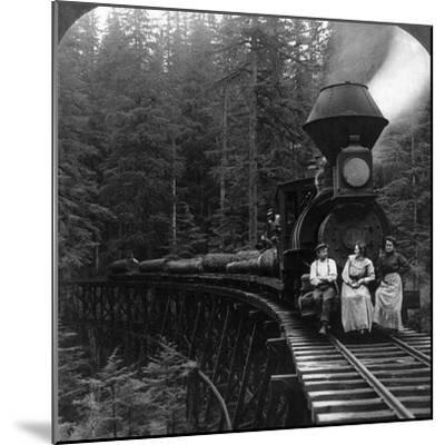 Oregon: Logging Train--Mounted Giclee Print
