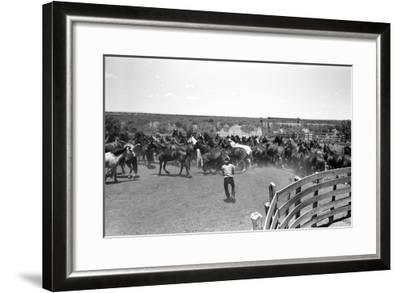 Texas: Cowboy, 1939-Russell Lee-Framed Giclee Print