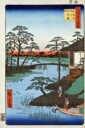 Japan: Inlet, 1857-Ando Hiroshige-Stretched Canvas Print