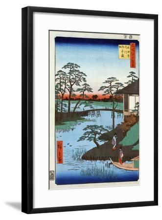 Japan: Inlet, 1857-Ando Hiroshige-Framed Giclee Print