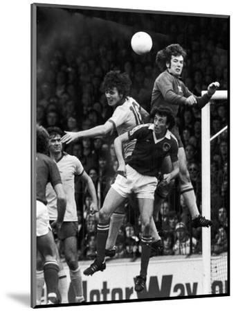 England: Soccer Match, 1977--Mounted Premium Giclee Print