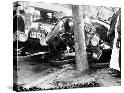 Car Accident, c1919--Stretched Canvas Print