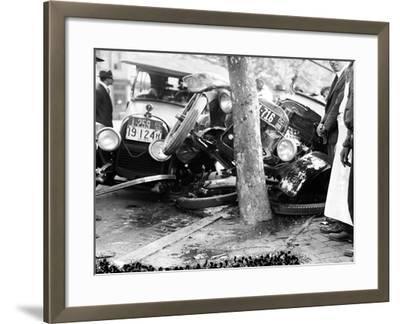 Car Accident, c1919--Framed Giclee Print