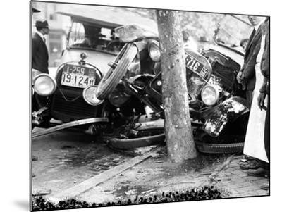 Car Accident, c1919--Mounted Giclee Print