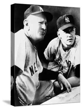 Mickey Mantle (1931-1995)--Stretched Canvas Print