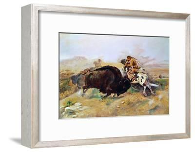 Russell: Buffalo Hunt-Charles Marion Russell-Framed Giclee Print