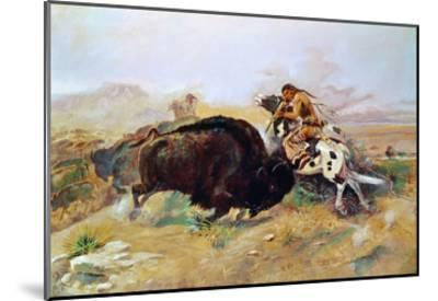 Russell: Buffalo Hunt-Charles Marion Russell-Mounted Giclee Print