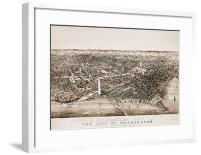 Washington DC, 1892-Currier & Ives-Framed Giclee Print