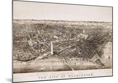 Washington DC, 1892-Currier & Ives-Mounted Giclee Print