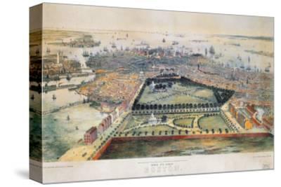 Boston, 1850-John Bachmann-Stretched Canvas Print