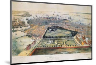 Boston, 1850-John Bachmann-Mounted Premium Giclee Print