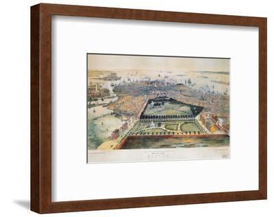 Boston, 1850-John Bachmann-Framed Premium Giclee Print