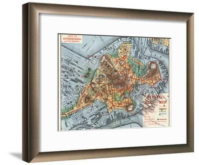 Map: Boston, c1880-Justin Winsor-Framed Giclee Print