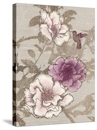 Gilded Hummingbird-Devon Ross-Stretched Canvas Print