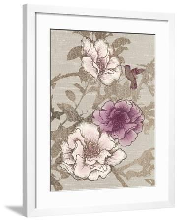 Gilded Hummingbird-Devon Ross-Framed Art Print