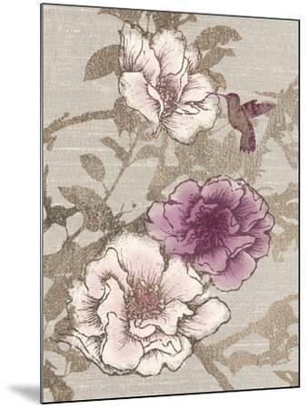 Gilded Hummingbird-Devon Ross-Mounted Art Print