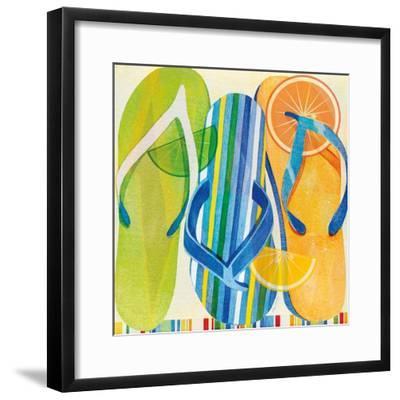 Holiday Flip Flops-Mary Escobedo-Framed Art Print