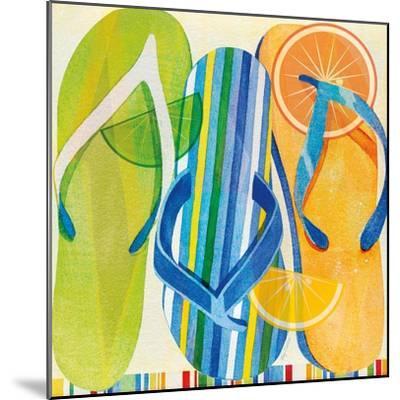 Holiday Flip Flops-Mary Escobedo-Mounted Art Print