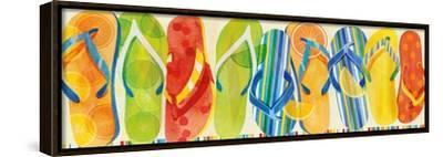 Flip Flop Collection-Mary Escobedo-Framed Stretched Canvas Print