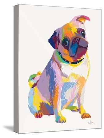 Pug Sketch-Patti Mollica-Stretched Canvas Print