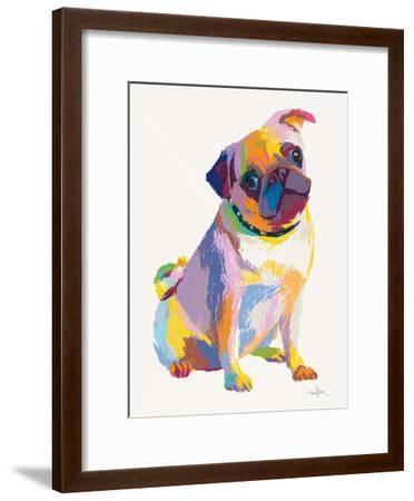 Pug Sketch-Patti Mollica-Framed Art Print