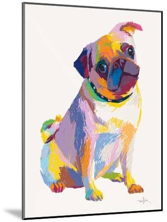 Pug Sketch-Patti Mollica-Mounted Art Print