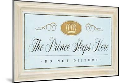 The Prince Sleeps-Angela Staehling-Mounted Art Print