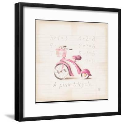 Pink Tricycle-Lauren Hamilton-Framed Art Print