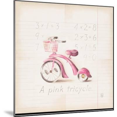 Pink Tricycle-Lauren Hamilton-Mounted Art Print