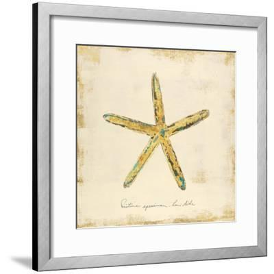 Gilded Ocean Starfish-Studio 5-Framed Art Print