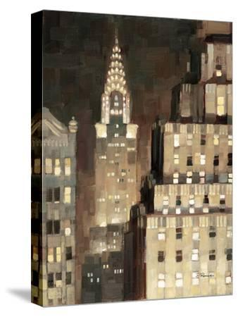 Manhattan Aglow-Paulo Romero-Stretched Canvas Print