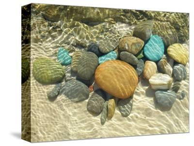 Beach Stones-Mark Goodall-Stretched Canvas Print
