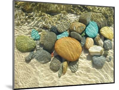 Beach Stones-Mark Goodall-Mounted Premium Giclee Print