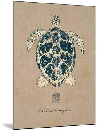 Vintage Linen Tortoise-Regina-Andrew Design-Mounted Art Print