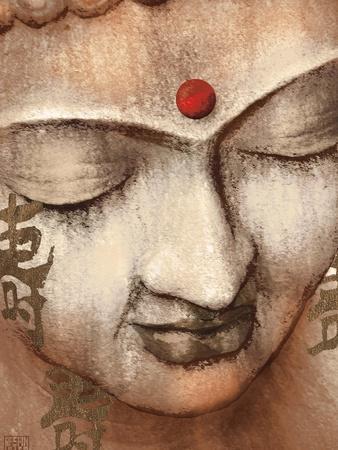 Serene Buddha-Raspin Stuwart-Framed Art Print
