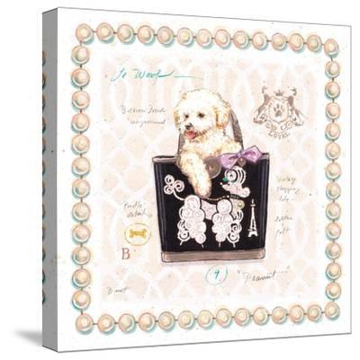 Bichon Puppy Purse-Chad Barrett-Stretched Canvas Print