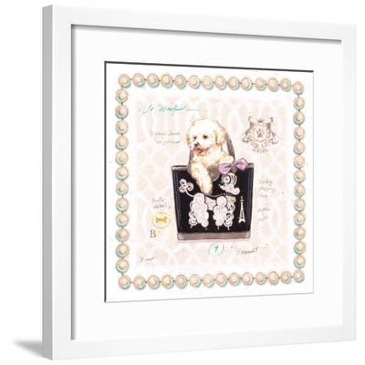 Bichon Puppy Purse-Chad Barrett-Framed Art Print