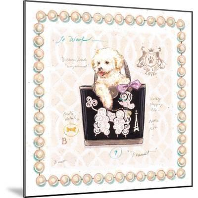 Bichon Puppy Purse-Chad Barrett-Mounted Art Print