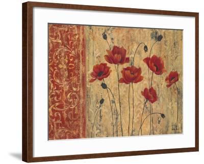 Patterned Anemone-Sandra Smith-Framed Art Print