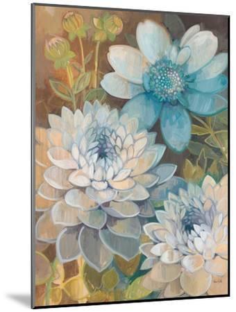 Pretty Blue Dahlias 2-Vera Hills-Mounted Art Print