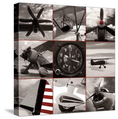 Aircraft Montage-Matt McCarthy-Stretched Canvas Print